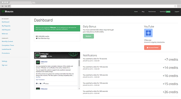 YTMonster Dashboard